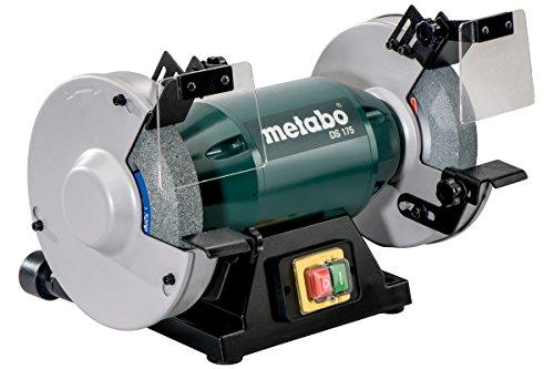 Metabo 619175000 Doppelschleifmaschine DS 175 | Normalkorund Scheiben 36 P/60 N, Funkenschutzgläser, Auflage,...