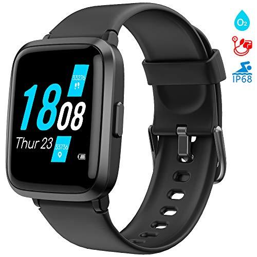 LIFEBEE Smartwatch, Fitness Armband mit Blutdruckmesser Pulsoximeter Blutsauerstoff-Monitor(SpO2) Sportuhr...