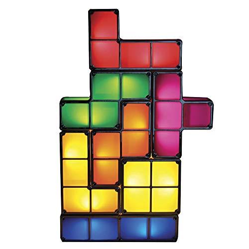 GOODS+GADGETS Tetris Lampe Stapelbare LED Tischleuchte Stimmungslicht Retro Tetrislampe Leuchte Bausteine