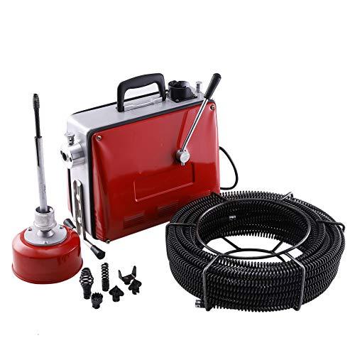 Z ZELUS 400W Rohrreinigungsmaschine Rohrreinigungsgerät Rohrreiniger 400 U/min Rohr-Reiniger Reinigung...