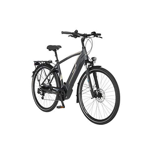 FISCHER Herren - Trekking E-Bike VIATOR 5.0i, Elektrofahrrad, schiefergrau matt, 28 Zoll, RH 55 cm, Brose...