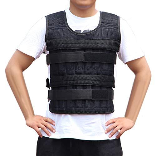 puseky Verstellbare Gewichtsweste für Training, Fitnesstraining, hält bis zu 15 kg (leere Taschen, Gewichte...