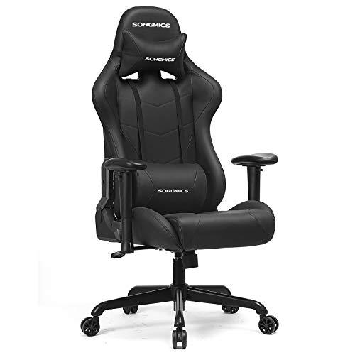 SONGMICS Gaming Stuhl, Bürostuhl, bis 150 kg belastbar, Schreibtischstuhl mit Lendenkissen, hoher...