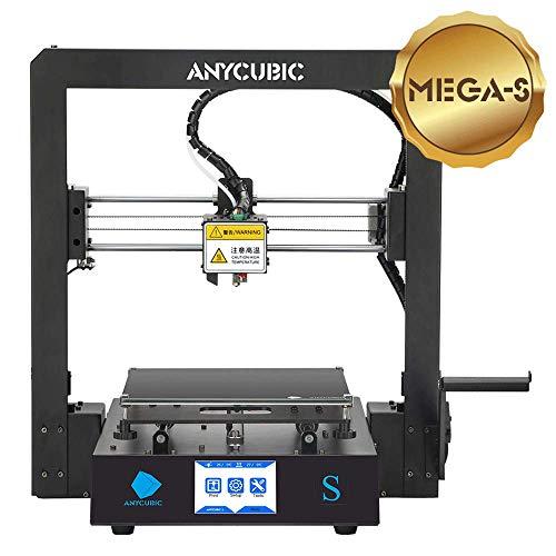 ANYCUBIC MEGA-S 3D Drucker mit Guter Qualität, neuem Extruder, Stabilen Vollmetall-Rahmen und Ultrabase...