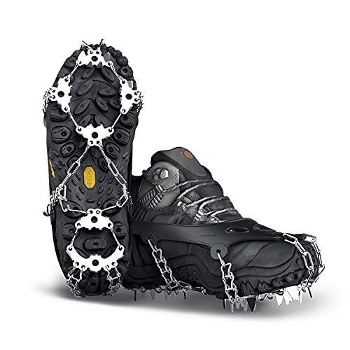 Yesloo Steigeisen, Schuhe Spike mit 24 Edelstahl Zähne und Silikon Band Anti Rutsch auf EIS und Schnee für...