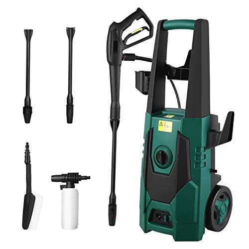 FIXKIT 160 bar 480 l/h Rasen und Garten Hochdruckreiniger mit Hochdruckpistole,für Haushalt, Außenbereich,...