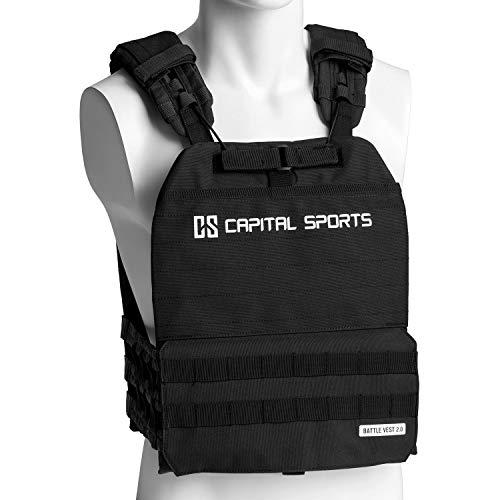 Capital Sports Battlevest 2.0 Gewichtsweste - hoher Tragekomfort und optimale Gewichtsverteilung durch dicke...