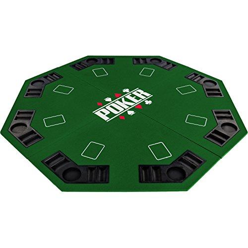 """Maxstore Faltbare Pokerauflage """"Full House"""" für bis zu 8 Spieler, achteckig, Maße 120x120 cm, MDF..."""
