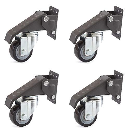 Workbenchcaster Heberolle Lenkrolle Möbelrolle 65mm Polyurethanrad Set (4)
