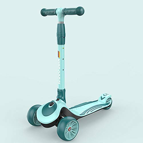 Lihgfw Scooter for Kinder Kleinkind-Scooter, faltbar und verstellbar in Höhe, Lean to Steer 3-Rad-Roller for...