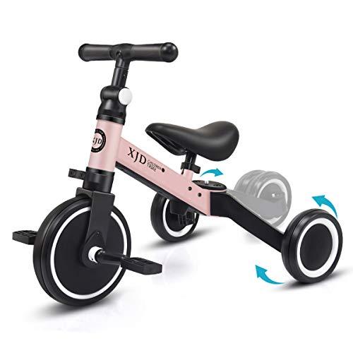 XJD 3 in 1 Laufrad Dreirad Lauffahrrad Upgrade 2.0 für Kinder 12-36 Monaten Laufräder mit abnehmbares Pedal...