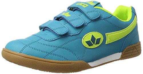 Lico Bernie V Unisex Kinder Multisport Indoor Schuhe, Petrol/ Lemon, 38 EU