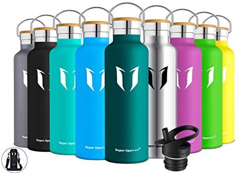 Super Sparrow Trinkflasche Edelstahl Wasserflasche 750ml - Isolier Flasche mit Perfekte Thermosflasche für...