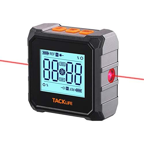 Digitaler Neigungsmesser Winkelmesser Laser Wasserwaage 3 in 1 magnetisch IP54 Wasserdicht mit LCD Display,...