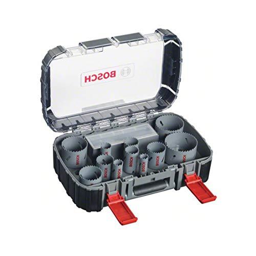 Bosch Professional 17tlg. Lochsägen Set HSS Bimetall für Standardadapter (für Holz, Metall und Kunststoff,...