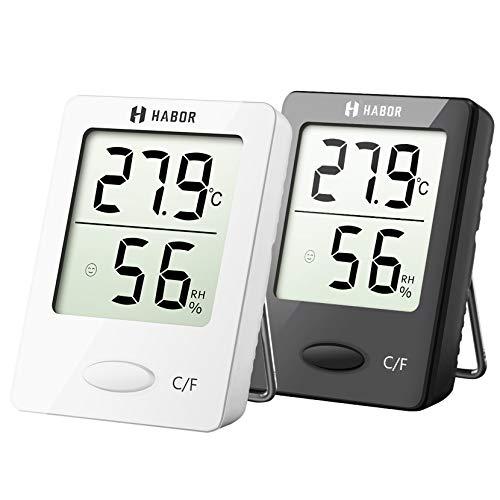 Habor Thermo-Hygrometer, Luftfeuchtigkeitsmessgerät Innen Digitales Thermometer Hygrometer Innen Hydrometer...