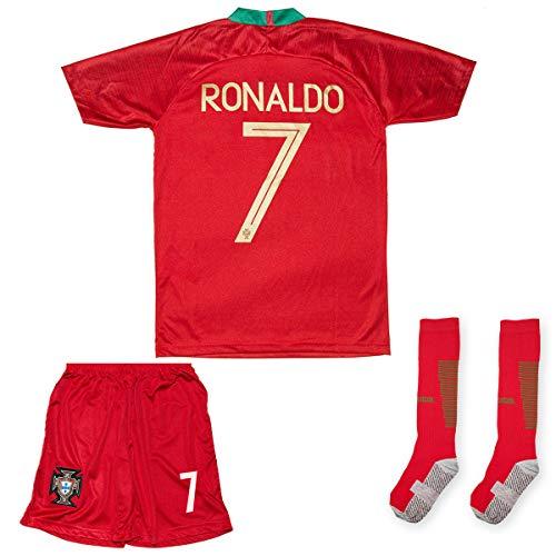 ATB Portugal 2019/2020#7 Ronaldo Heim Kinder Fuball Trikot und Shorts mit Socken Kinder und Jugend Gre