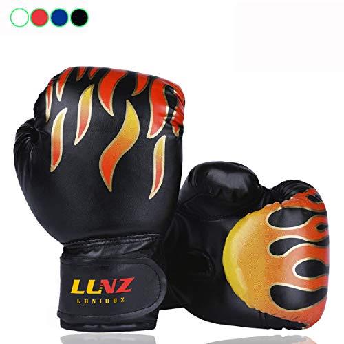 Kinder Boxhandschuhe, für Sparring, 170 g, für 3 - 10Jahre, Schwarz