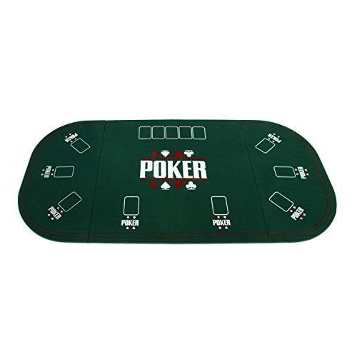 Nexos Faltbare Tischauflage Casino Pokertisch Pokerauflage Holzverstärkt klappbar 160 x 80 cm bis zu 9...
