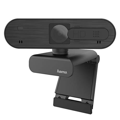 Hama Webcam 1080p Full HD mit Stereo Mikrofon (PC Webcam mit Autofokus und intelligenter Belichtung für...
