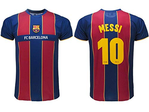 Barcelona Offizielles Fußballtrikot FCB 2021 – Messi Nummer 10 – Home – Blaukorn (L)