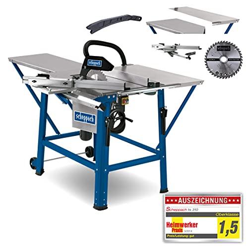 scheppach Tischkreissäge TS310 - 2200 W | Sägeblatt- Ø315mm | Schnitthöhe 83 mm | inkl....