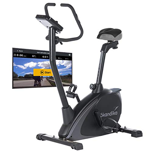 Skandika Ergometer Vinneren Design Hometrainer   Fitness Fahrrad mit Magnetbremssystem, 11kg Schwungmasse, 12...