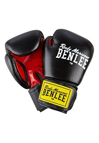 BENLEE 1100/194006 Rocky Marciano Leder Boxhandschuh'Fighter', Schwarz/Rot (black/red), GröM-_e: 16 oz