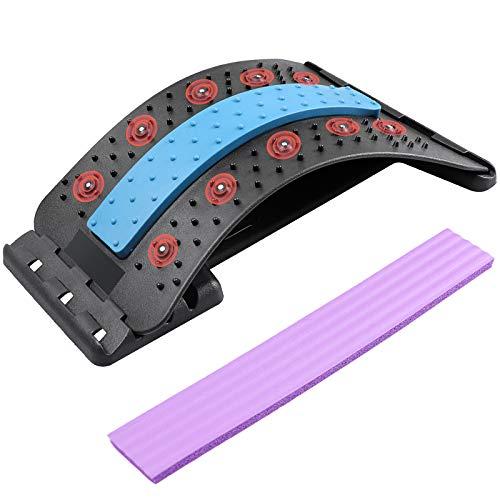 Rückenstrecker,Rückenmassage Unterstützung mit magnetischen Akupressurpunkten 4-stufige Anpassung,...