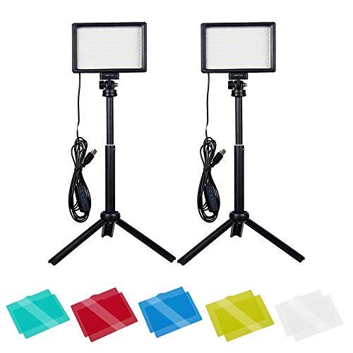 Dimmbare 5600K USB-LED-Videolicht, Beleuchtung für Fotostudios mit Verstellbarem Stativ für...