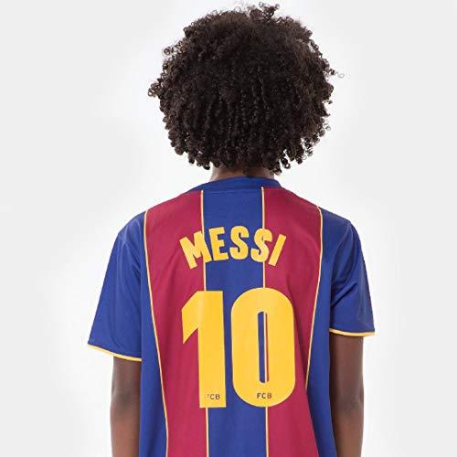 FC Barcelona Morefootballs - Offizielles Lionel Messi Heimspiel Trikot Set für Kinder - 2020/2021-116 - FCB...