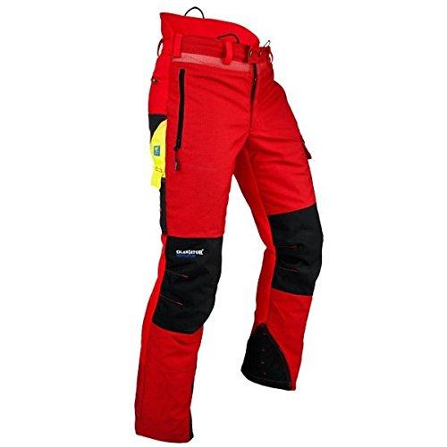 Pfanner Ventilation Schnittschutzhose Klasse 1 Gladiator Gewebe, Farbe:rot, Größe:L (langgr.)