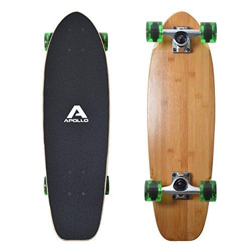 Apollo Mini-Longboard, toller Midi Cruiser als Komplett-Board, 70cm (30x8), wendiges Kick Tail Mini Longboard...