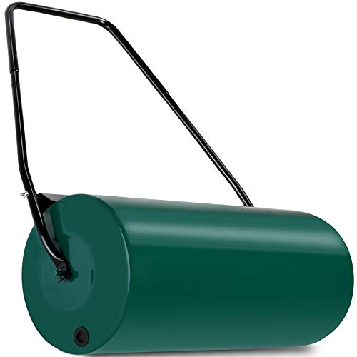 Gardebruk Rasenwalze 60cm 48l Fllvolumen Schmutzabweiser Metall Handwalze Rasenroller Gartenwalze Ackerwalze