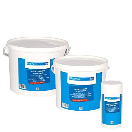 POOLSBEST® 10,2 kg Multitabs 2 Speed 7 in 1 - Chlortabletten für Pool mit 2 Phasen-Desinfektion (schnell-...