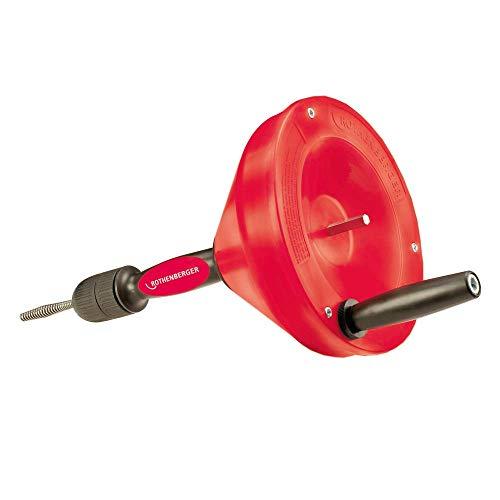 ROTHENBERGER ROSPI 8 H+E Plus Rohrreiniger: Rohrreinigungsgerät mit Spirale, Betrieb per Hand oder...