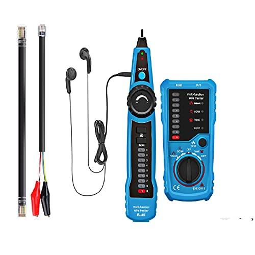 Kabelfinder Kabeltester Leitungssucher Telefon RJ45 RJ11 Finder Draht Verfolger LAN Netzwerk Kabelsucher wire...