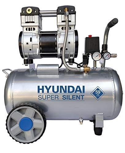 HYUNDAI Silent Kompressor SAC55753 (Druckluftkompressor, ÖLFREI, Flüsterkompressor mit 59 dB(A), 50 l...