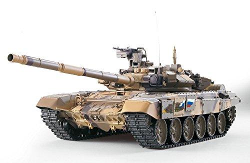 ES-TOYS Panzer ferngesteuert mit Schussfunktion Russland T90 Heng Long 1:16 mit Rauch&Sound und Stahlgetriebe...
