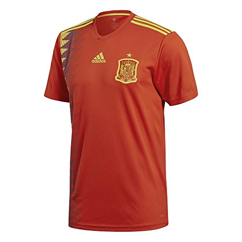 adidas Herren Spanien Heim Replica Trikot, Red/Bold Gold, L