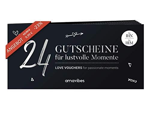 Premium Liebes-Gutscheinheft für Männer: 24 Liebes-Gutscheine, perfekt zum Geburtstag, Geschenk für Mann,...