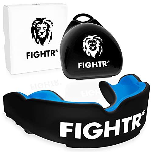 FIGHTR® Premium Mundschutz - ideale Atmung & leicht Anpassbar   Sport Zahnschutz für Boxen, MMA, Muay Thai,...