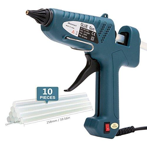 Heißklebepistole, Blusmart 100 Watt Klebepistole mit 10PCS transparente Klebestifte/Heißklebestifte für...