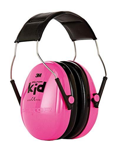 3M Peltor Kid Kapselgehörschutz, Neon-rosa, Leichter Kinder Gehörschutz/Ohrenschutz mit verstellbarem...