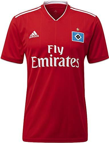 adidas Herren Hamburger SV Away Kurzarm Trikot, Scarlet/White, L