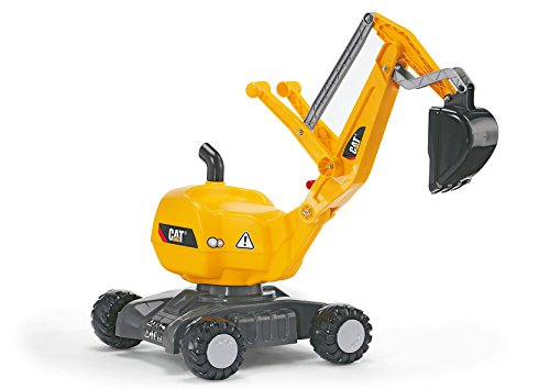 rolly toys   rollyDigger CAT   voll funktionsfähiger Kunststoff Bagger   421015
