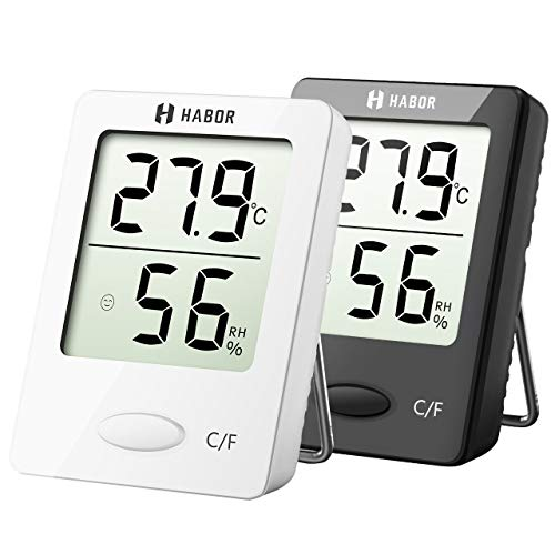 Habor Thermo-Hygrometer, Luftfeuchtigkeitsmessgerät Innen Digitales Thermometer Hygrometer Innen Hydrometer...