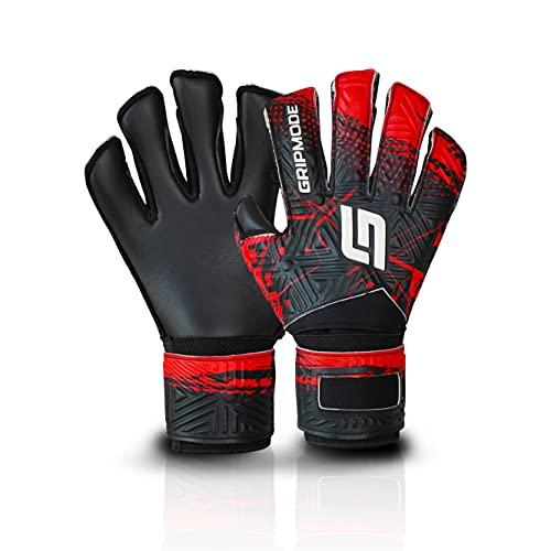Gripmode Junior Red Torwarthandschuhe für Kinder mit Fingersave I Torhüter Handschuhe mit einzeln...