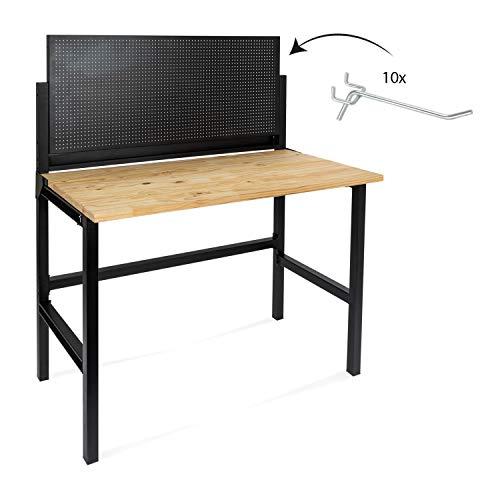 rikta Klappbare Werkbank | Klappbarer Werktisch | Freistehend | ca. 121,5 x 64,6 x 142,0 cm (BxTxH) |...
