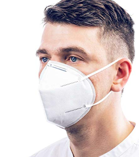 ViTho [10 Stück] Atmungsaktive Staubmaske | Atemschutzmaske | Staubschutzmaske | Mund-Nasen-Schutz gegen...